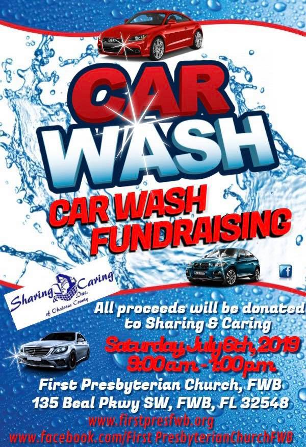 Car Wash Fundraiser Sat 7 6 19 9 00a M 1 00p M First